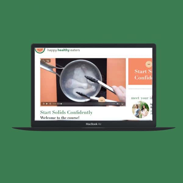 Macbook with browser set to Start Solids Confidently E-course