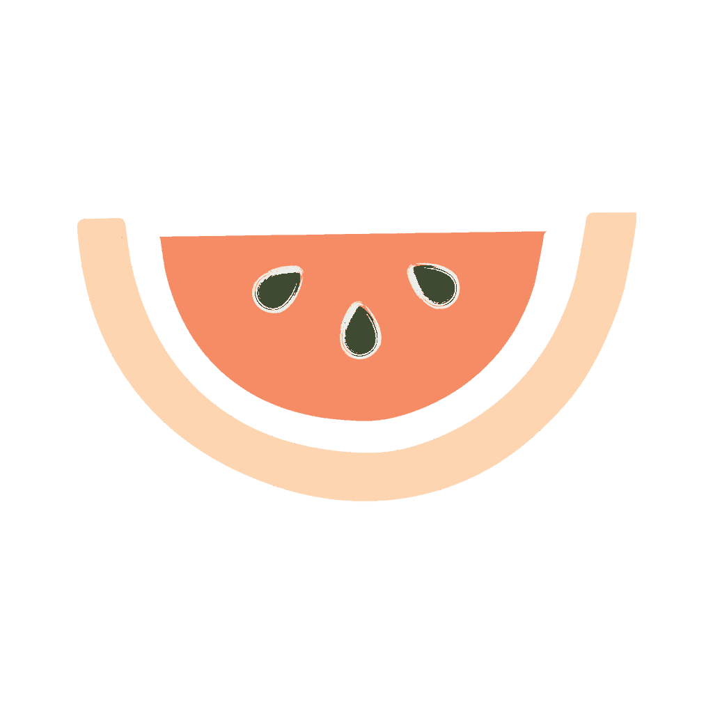 peach and pink watermelon slice icon