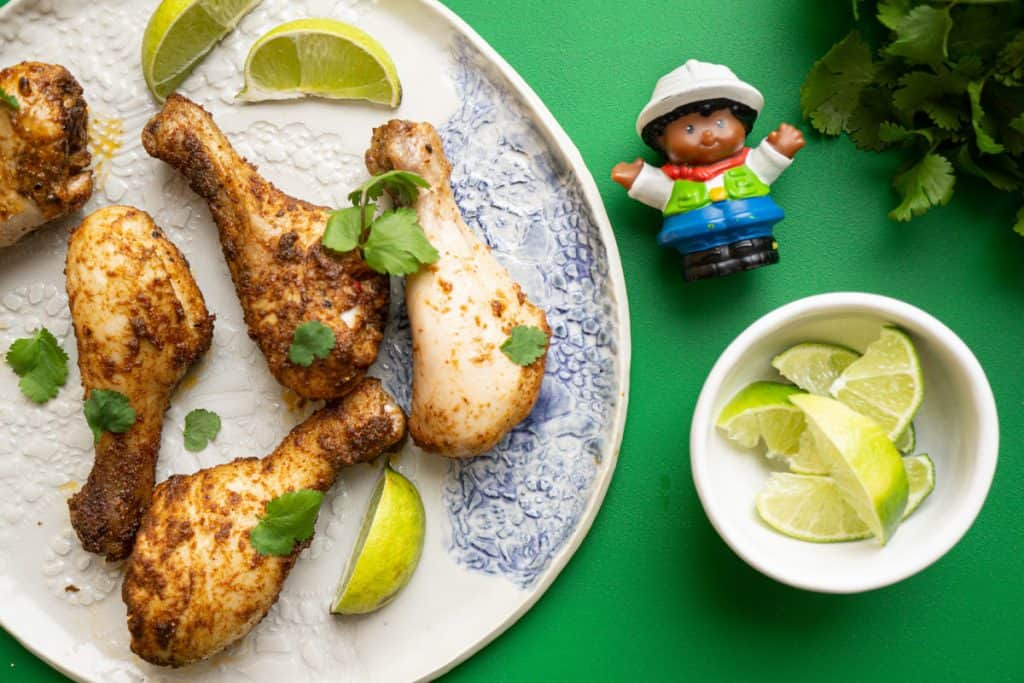 image of tex mex chicken drumstick recipe for babies 6 months and older