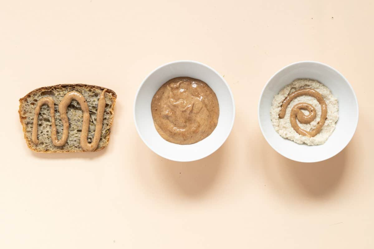 3 ways to use baby food pouches: on toast strips, eaten out of a bowl, or mixed into baby cereal