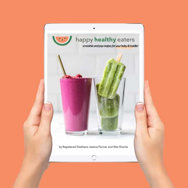Smoothie and Popsicle Ebook Ipad Mockup with a pink background